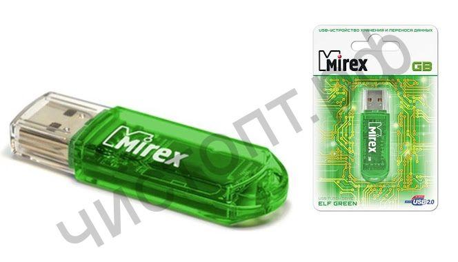 флэш-карта MIREX 4GB ELF зелёный BL-1