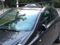 Багажник на крышу Opel Corsa D 2006-..., Amos, прямоугольные стальные дуги