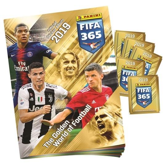 """Альбом """"Panini FIFA 365-2019"""" + 5 пакетов с наклейками"""