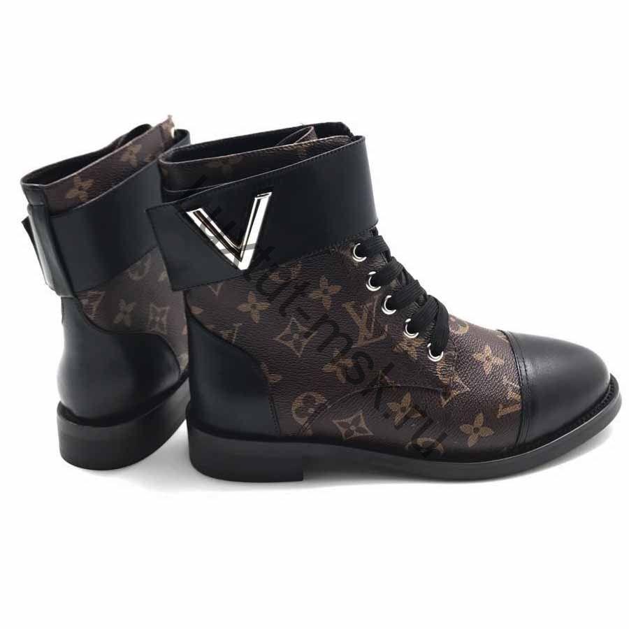 Кожаные женские ботинки Louis Vuitton (Луи Виттон) купить в интернет ... 29394b8de07