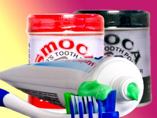 Зубные порошки и пасты