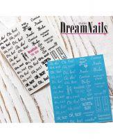 Слайдер-дизайн «Надписи» TW - 342 Dream Nails (водные наклейки)
