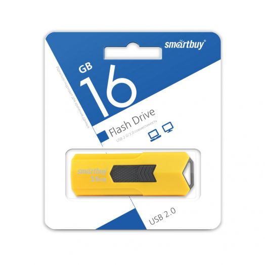 USB накопитель Smartbuy 16GB STREAM Yellow
