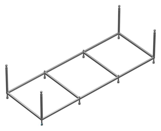 Монтажный набор для ванны 180x80 Roca BeCool ZRU9302786