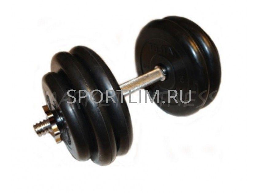 Гантель MB Barbell Atlet d.25мм 27.5 кг (хромированный гриф)
