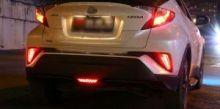 Фонари в задний бампер, LED, 2 режима, 3шт