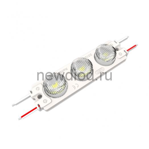 Светодиодный модуль с линзой PREMIUM SMD 3030/3LED