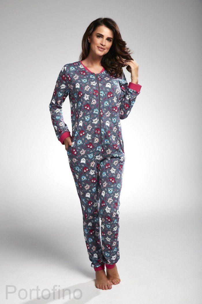 107-171 женская пижама длин.рукав Cornette