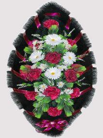 Траурный венок из искусственных цветов #19