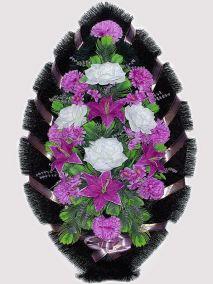 Траурный венок из искусственных цветов #11