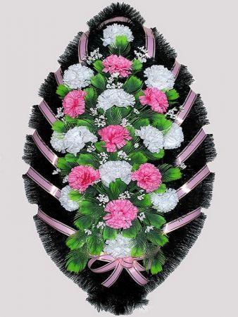 Траурный венок из искусственных цветов #5