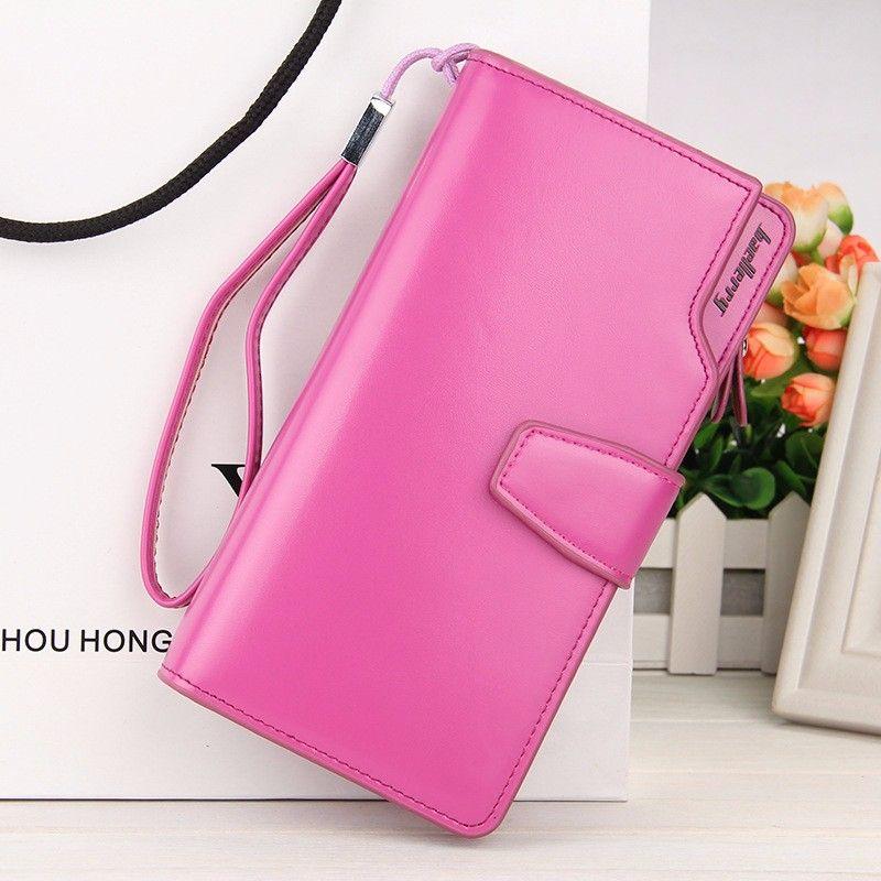 Кошелёк Woman Baellerry Wallet Pu Clutch Bag, Цвет Малиновый