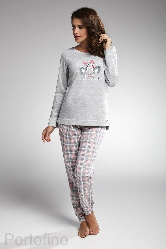 627-161 женская пижама длин.рукав Cornette