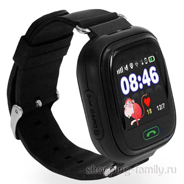 Умные детские часы с GPS Smart Baby Watch Q60S, черный