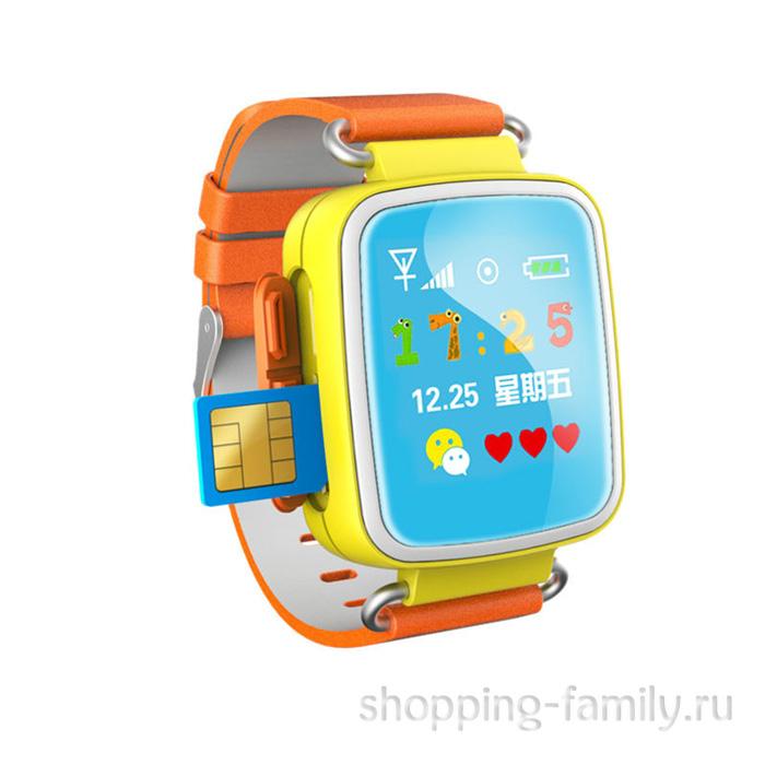 Умные детские часы с GPS Smart Baby Watch Q60S, оранжевый
