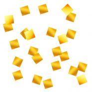 Конфетти квадраты золото, фольга, 10 мм, 500 гр
