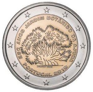Португалия, 2 евро 2018 250-летие Ботанического сада Ажуда в Лиссабоне