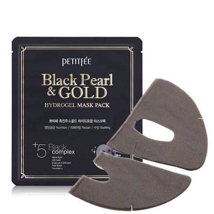 [PETITFEE] Маска д/лица гидрогел. ЖЕМЧУГ/ЗОЛОТО BLACK PEARL & GOLD HYDROGEL MASK PACK, 32 гр