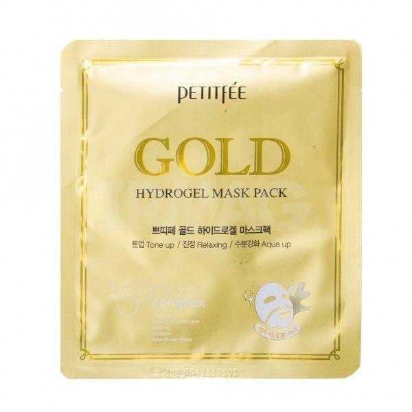 [PETITFEE] Маска д/лица гидрогел. c ЗОЛОТОМ Gold Hydrogel Mask Pack, 32 гр