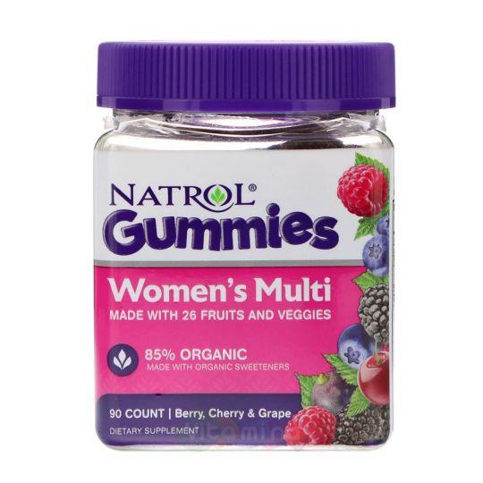 Natrol Gummies Женские Мультивитамины со вкусом Вишни и Винограда, 90 штук