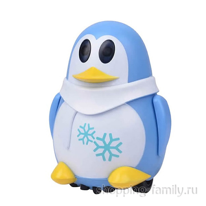 Индуктивная игрушка Пингвин с LED сенсором, голубой
