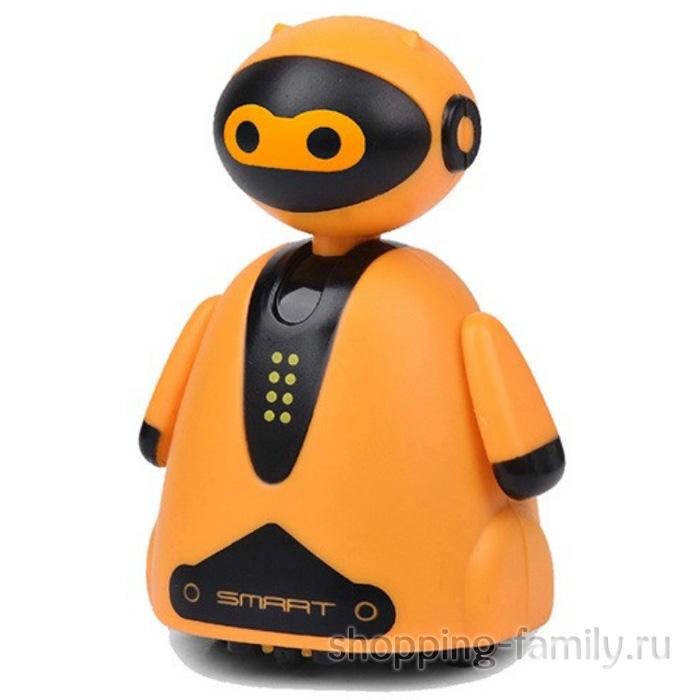 Индуктивная игрушка Робот с LED сенсором, оранжевый