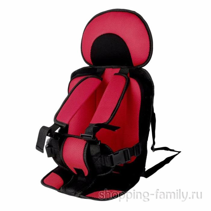 Детское бескаркасное автокресло Child Car Seat, цвет красный