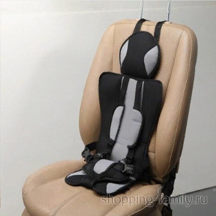 Детское бескаркасное автокресло Child Car Seat, цвет серый