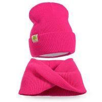 Комплект  для девочки 6-12 лет( шапка, снуд) №SG120