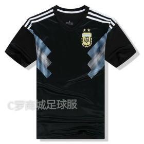 Гостевая игровая футболка сборной Аргентины по футболу на чемпионат мира 2018 года