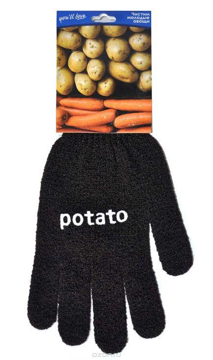 Перчатка для очистки молодого картофеля 1 шт