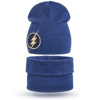 Комплект шапка-снуд для мальчика 3-5 лет №SG115
