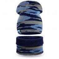 Комплект шапка-снуд для мальчика 6-12 лет №SG130