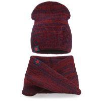 Комплект шапка-снуд для мальчика 6-12 лет №SG139