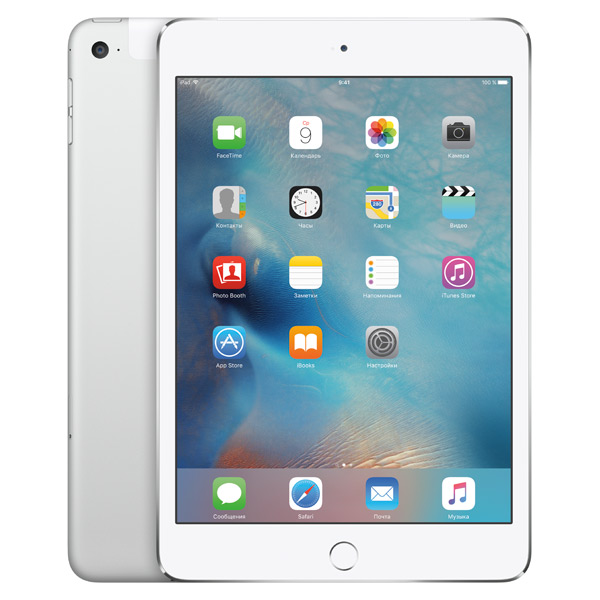 iPad mini 4 Wi-Fi+Cellular 128GB Silver
