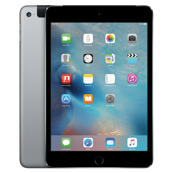 iPad mini 4 Wi-Fi+Cellular 128 ГБ «Серый космос»