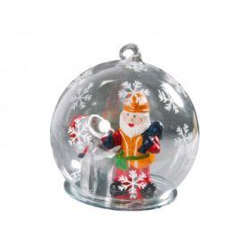 Новогодний шар с Дедом Морозом — строителем (арт. 525138)