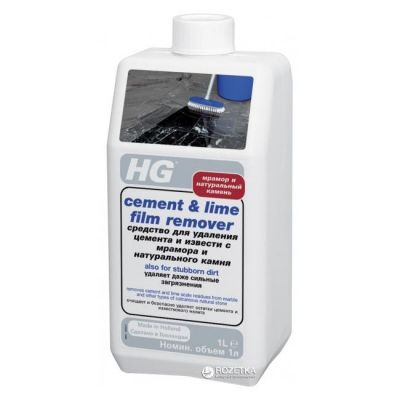 HG Средство для удаления цемента и извести с мрамора и натурального камня 1л средство №31