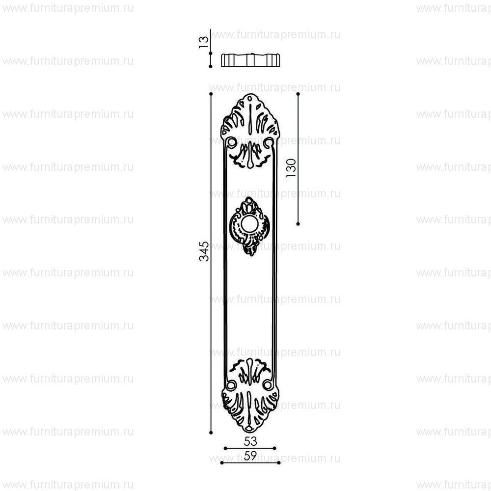 Ручка на планке Venezia Giulietta