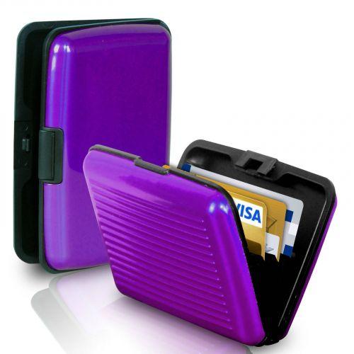 Кейс для кредитных карт Security Credit Card Wallet (цвет фиолетовый)