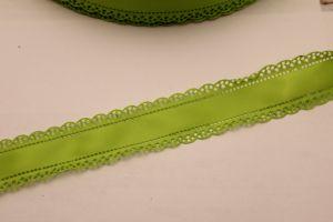 """Лента атласная """"вырубка"""", ширина 30 мм , длина 10 метров, цвет: зеленый"""