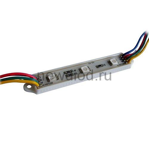 Светодиодный модуль SMD 5050/3LED 90*12*4,5 мм 0,72W IP65 RGB