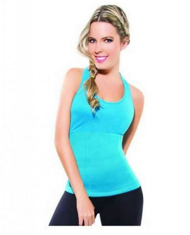 Майка для похудения Hot Shapers (Хот Шейперс), цвет голубой, L