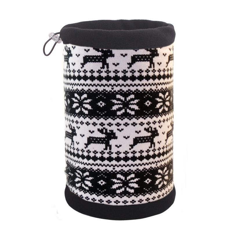 Снуд шарф-шапка с серым узором