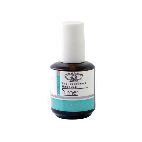 Безкислотный праймер для ногтей, Primer Acid Free Global Fashion 15 ml