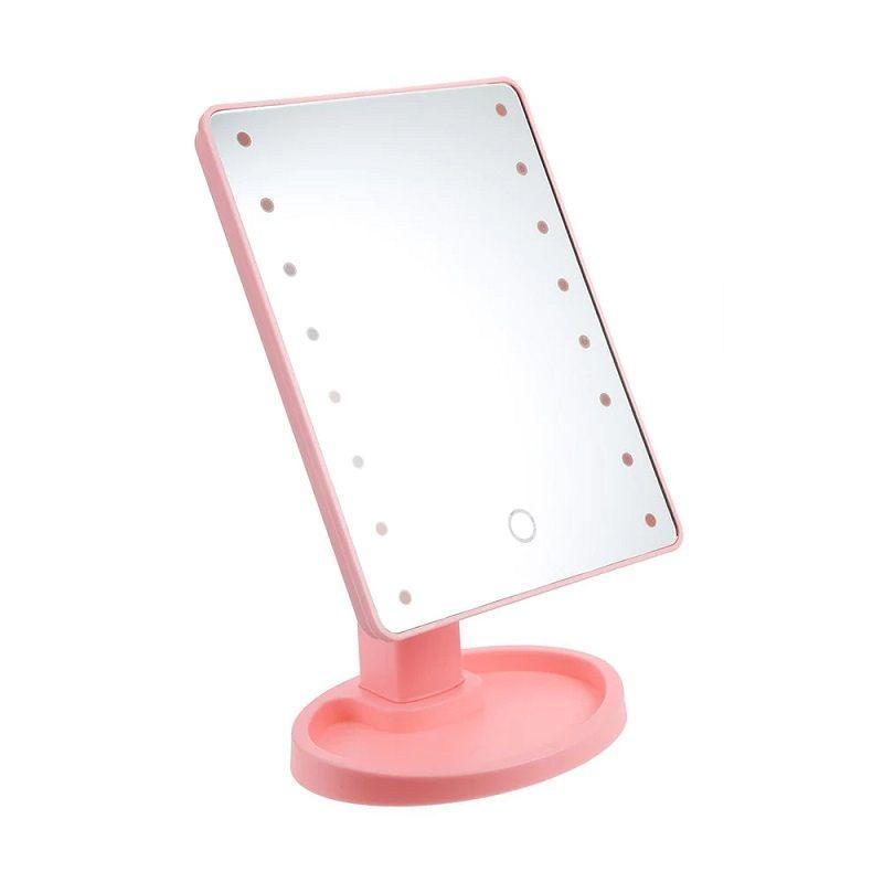 Зеркало Large LED Mirror, цвет розовый