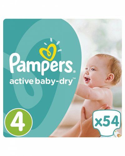 Подгузники Pampers Active Baby-Dry Junior 11-16кг, 54шт