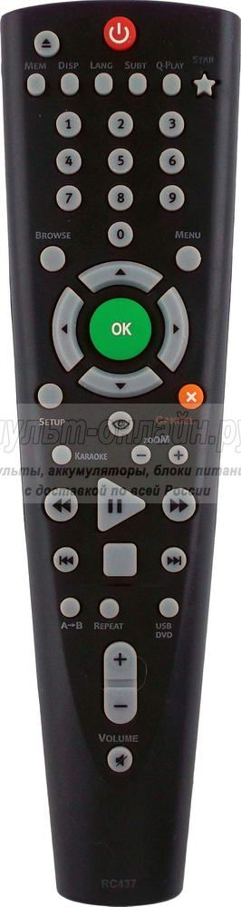 BBK RC-437  DVD ( RC026-05R) USB с функцией STAR