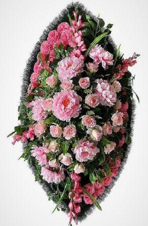 Траурный венок из искусственных цветов - Элит #36