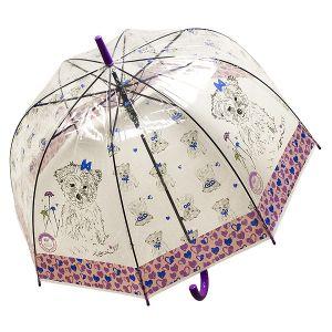 Зонт Собака фиолетовый